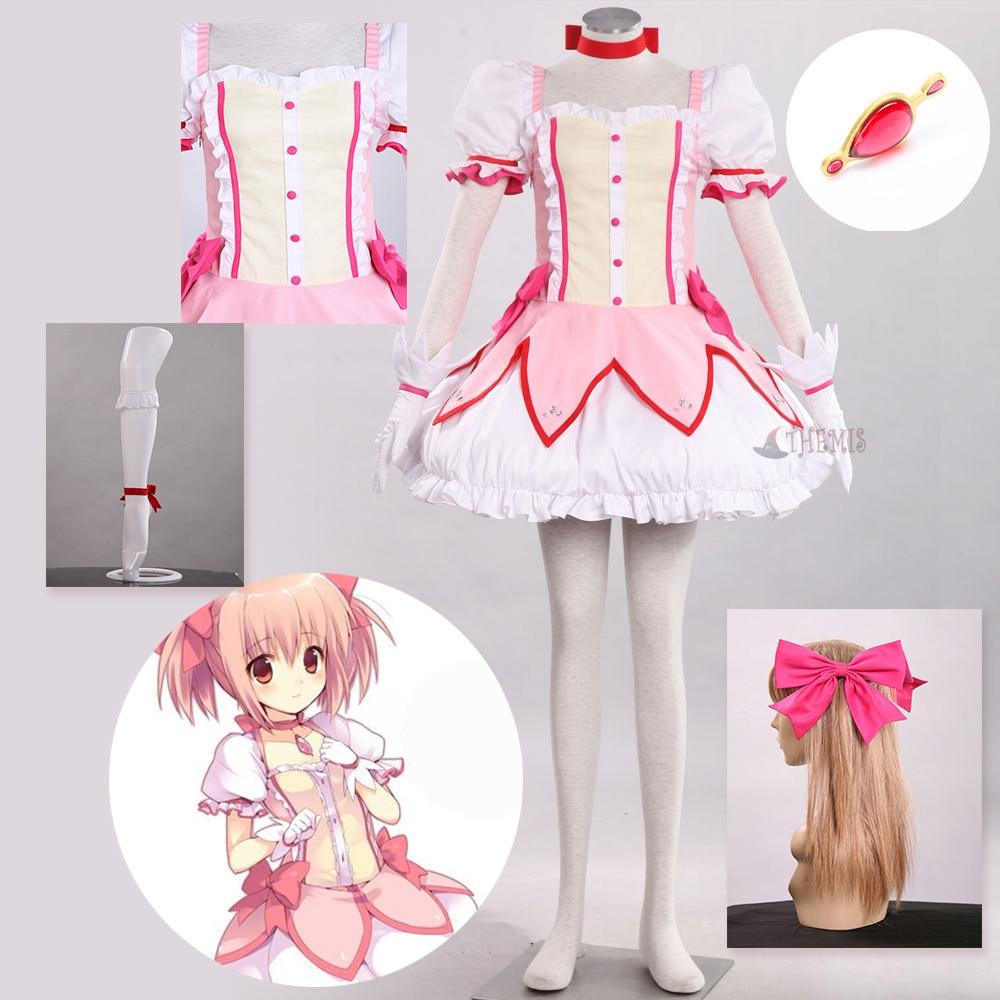 Puella Magi Madoka Magica Kaname Madoka Cosplay Costume,Any Size Note pls