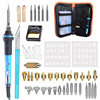 40PCS 60w Wood Burning Pen Set Wood Burning Adjustable Soldering Iron Chiseled Tips Blade Pyrography Tool