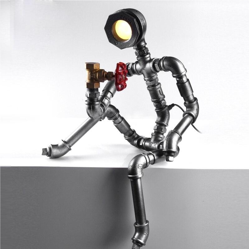 Fiducioso Robot Luce Moderna Parete Del Tubo Industriale Luce Led Lampada Da Tavolo In Stile Loft Dell'annata Steampunk Bar Caffetteria Quell Summer Thirst