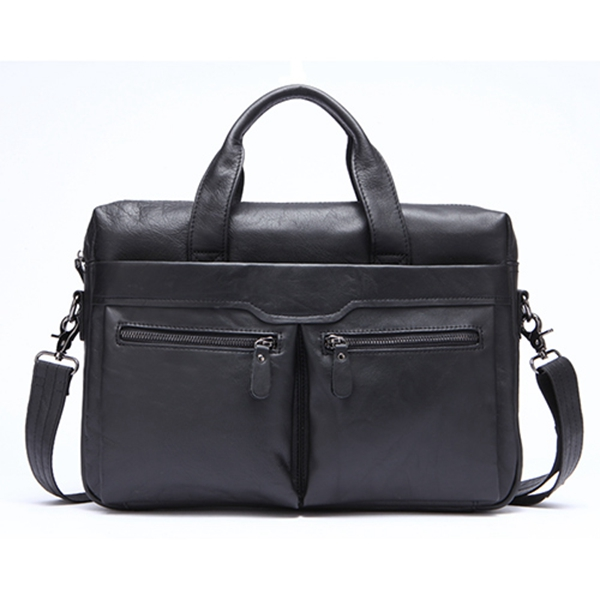 JHD-Mva Handbag Shoulder Briefcase Leather Business Men'S Bag Leather Shoulder Bag