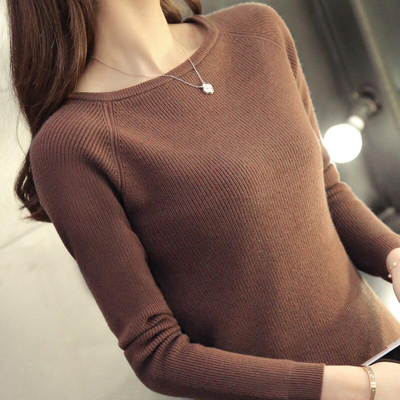2017 nueva primavera suéter de cuello Coreano delgado suéter de cuello alto cami