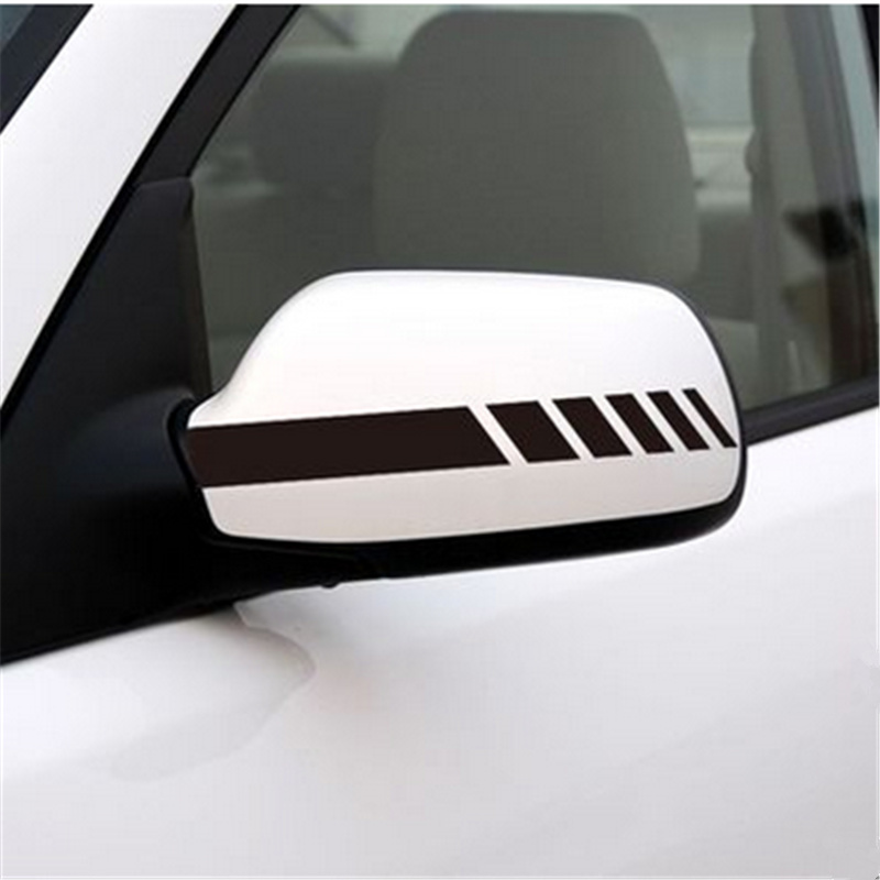 1 pair of universal rearview <font><b>mirror</b></font> sticker stripe sticker for <font><b>Ford</b></font> Focus Fusion Escort Kuga Ecosport Fiesta Falcon EDGE/<font><b>Explore</b></font> image