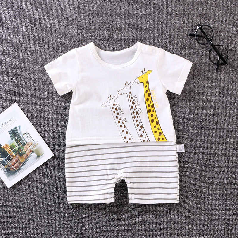 2e4376c7ff8 summer newborn Baby Clothes Cotton Baby Girl Clothes Short Sleeve Baby boys  Clothing Jumpsuit for 0