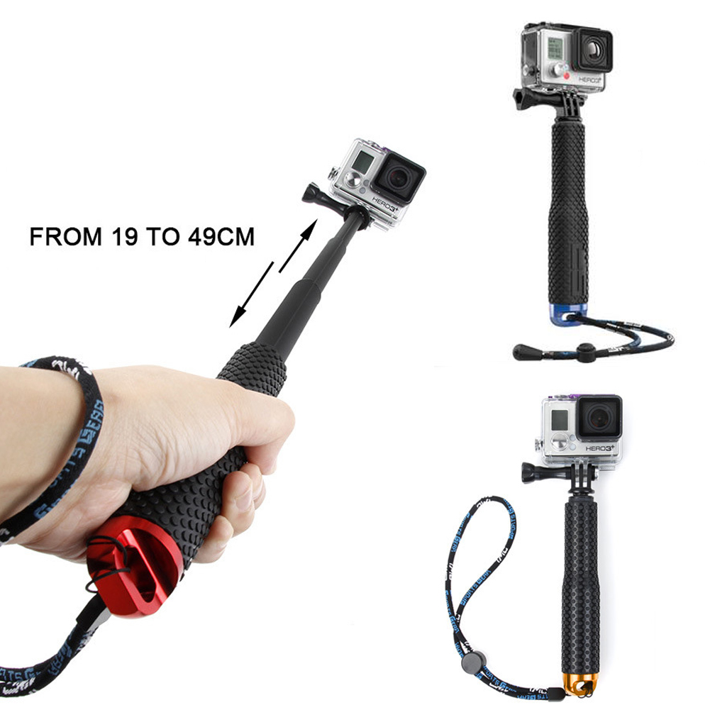 For Gopro Accessories Aluminum Extendable Selfie Stick