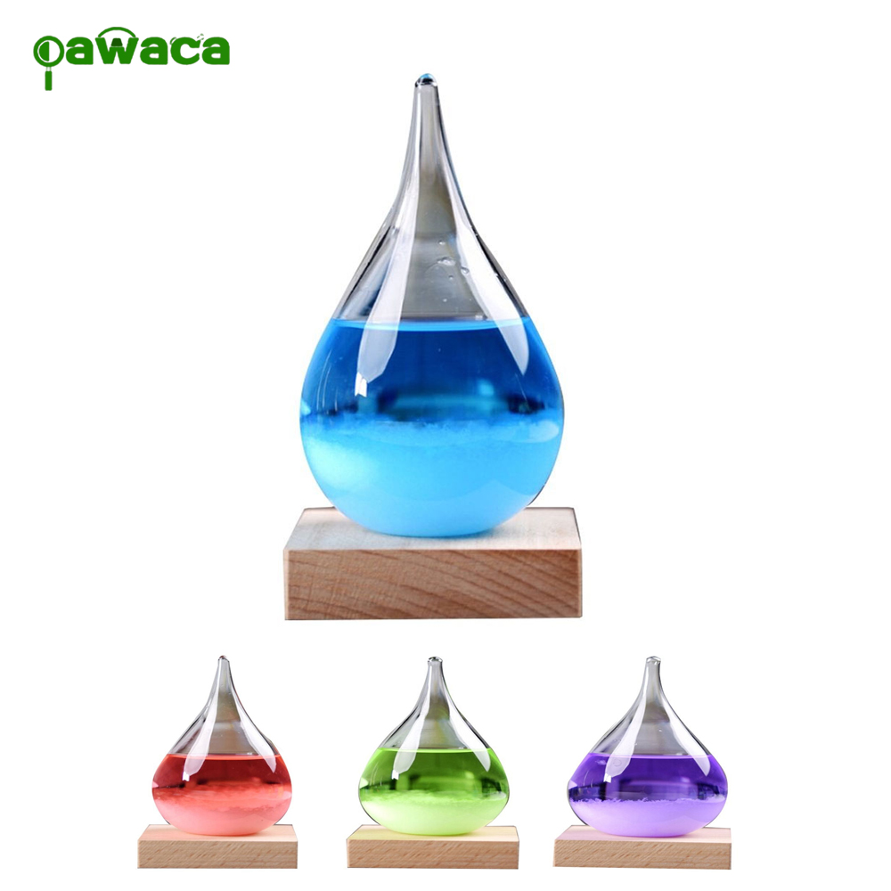 Colorful Water Drops Weather Forecast Storm Glass Forecast Predictor Monitors Bottle Crafts Home Office Decoration Birthday Gift