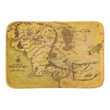 Map Of Middle Earth Home Decorative Doormats Soft Lightness font b Indoor b font Outdoor Bathroom