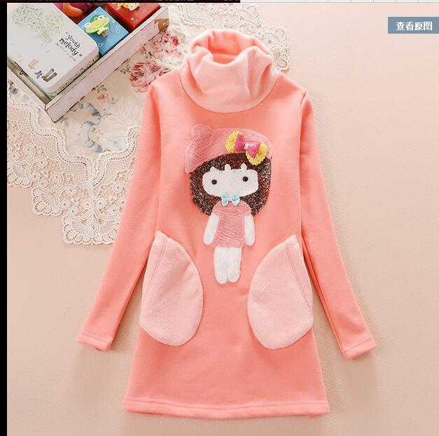 ФОТО Children 's clothing children' s autumn and winter 2016 in the new section of long - sleeved T - shirt plus large winter Tongdan