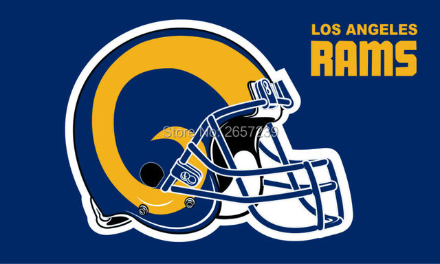 b5ddb49b 3x5FT NFL Los Angeles Rams helmet Flag banner150X90CM 100D Polyester brass  grommets custom flag, Free Shipping-in Flags, Banners & Accessories from ...