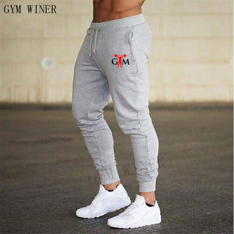 GYM WINE 2019 New Fashion Thin section Pants Men Casual Trouser Jogger Bodybuilding Fitness Sweat Time limited Sweatpants title=