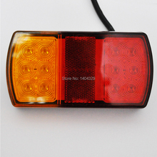 12V LED tail rear Dim brake stope Indicator turn signal Trailer Light lamp Kit font b