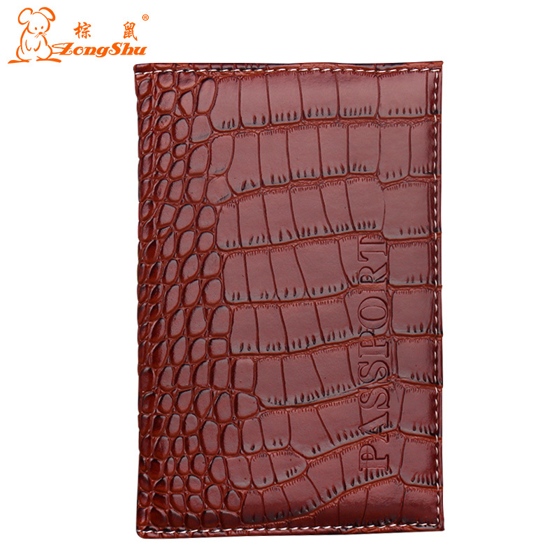 ZS 2015 New Arrived Candy Color Fashion Passport Cover Card Holder Unisex Travel Passport Holder crocodile grain passport case
