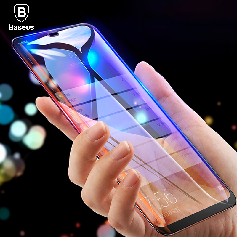Baseus 0.3mm Thin Screen Protector For Xiaomi 8 8 SE 9H 7D Tempered Glass Full Coverage Protective Glass Film For Xiaomi 8 8SE