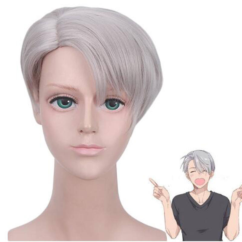 Anime YURI!! on ICE Victor Nikiforov Cool Cosplay Harajuku Couples Curly Wig