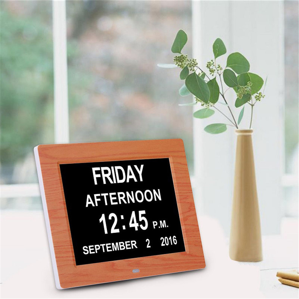 8 Language Digital Clock Smart Calendar Extra Large Non-Abbreviated For The Elderly Especially Dementia & Vision Impairment