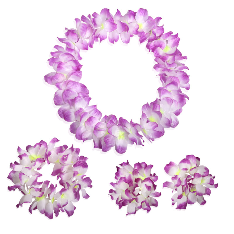 50sets 4pcsset multicolor hawaiian party artificial flower lei 50sets 4pcsset multicolor hawaiian party artificial flower lei fancy dress necklace garland bracelet wedding decor wen4795 in party diy decorations from mightylinksfo