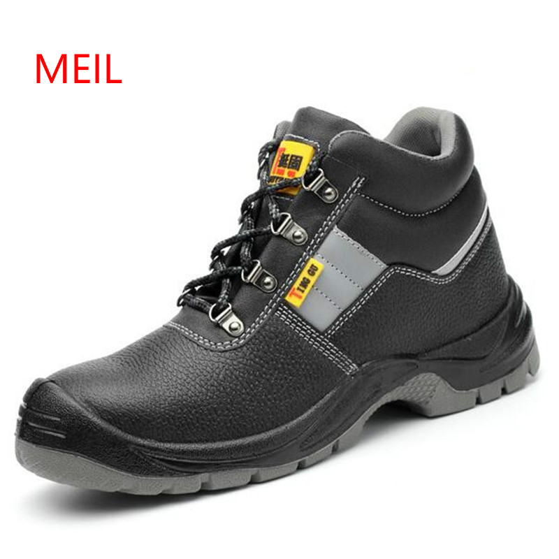 Anti Break Puncture Proof Anti Static Shoes High Leather