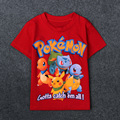 Boys Girls Pokemon Go T shrit Kids 100% Cotton T-shirts Short sleeve Children Boys Tops Sports Tee Shirts Summer Clothing