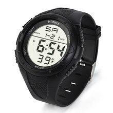 Мужские спортивные часы модные мужские светодиодный часы с цифровой сигнализацией спортивные часы силиконовые военные кварцевые наручные часы relojes hombre@ 8