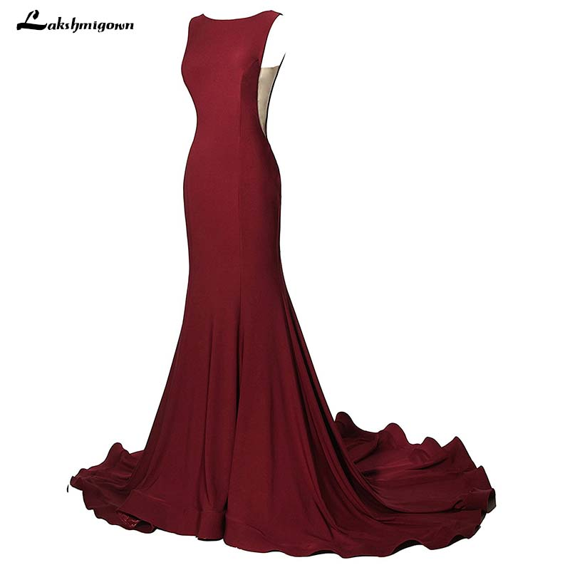 Hot Sale Burgundy Mermaid Evening Dresses 2018 Formal Prom Party ...
