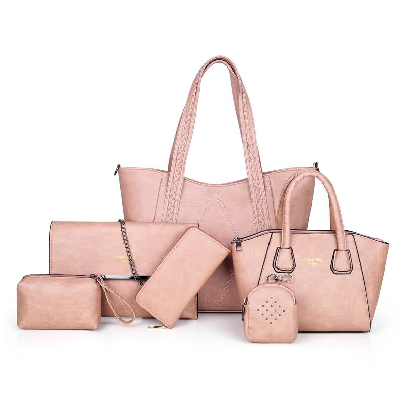 6 en 1 sacs composites pour femmes de luxe Designer femmes sacs à main sacs à bandoulière PU cuir femmes sacs ensemble pratique femmes pochette sac
