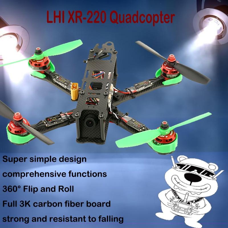 LHI RC drone kit de marco de 220mm general f4 de control de vuelo DX2205/2306 Motor sin escobillas Airbot espectros 35A CES quadcopter con cámara
