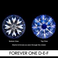 7,0 мм 1,2 карат 58 граней Сердце и стрелы Moissanites незакрепленный драгоценный камень D E F Цвет Charles & Colvard США создан Муассанит реального