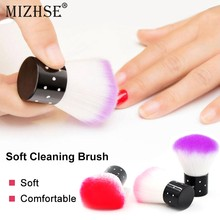 MIZHSE Soft Nail Cleaning Brush Nail Dust Art Manicure Tools Finger Cleaner Nail Tools Brush For Acrylic UV Gel Nail Art(China)