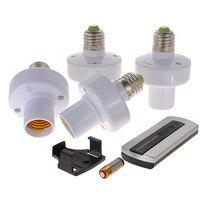 4pcs E27 Wireless Remote Control Light Lamp Bulb Holder Cap Socket Switch US SHIP Incandescent Less