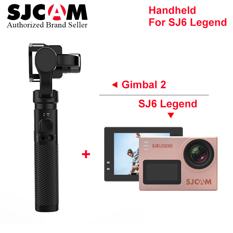 SJCAM Sj6 Légende 4 k Wifi d'action caméra go pro yi 4 k caméscope avec SJCAM SJ8 PRO SJ7 ÉTOILES de poche Cardan 2 3-Axe Stabilisateur
