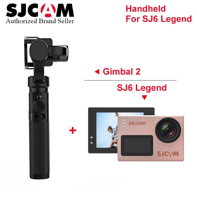 SJCAM Sj6 Legend 4 k Wifi caméra d'action pro yi 4 k mini caméscope avec SJCAM SJ8 PRO SJ7 STAR cardan de poche 2 stabilisateur 3 axes