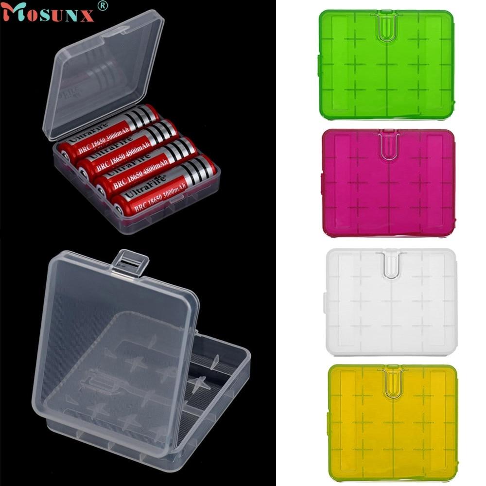 SimpleStone  Mosunx Simplestone Hard Portable Plastic Storage Box Case Holder For 4 x 18650 Battery 0320