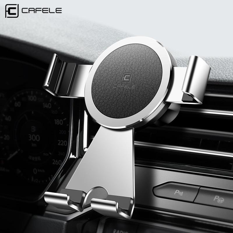 Cafele soporte para el teléfono en coche 360 grados de rotación titular del teléfono del coche aleación de aluminio Universal del sostenedor del coche del teléfono