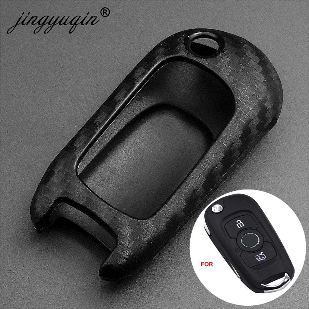 Jingyuqin Carbon Style Silicone Key Case Cover For 2019  Buick Verano For Chevrolet Cruze Car Styling Cover Protection