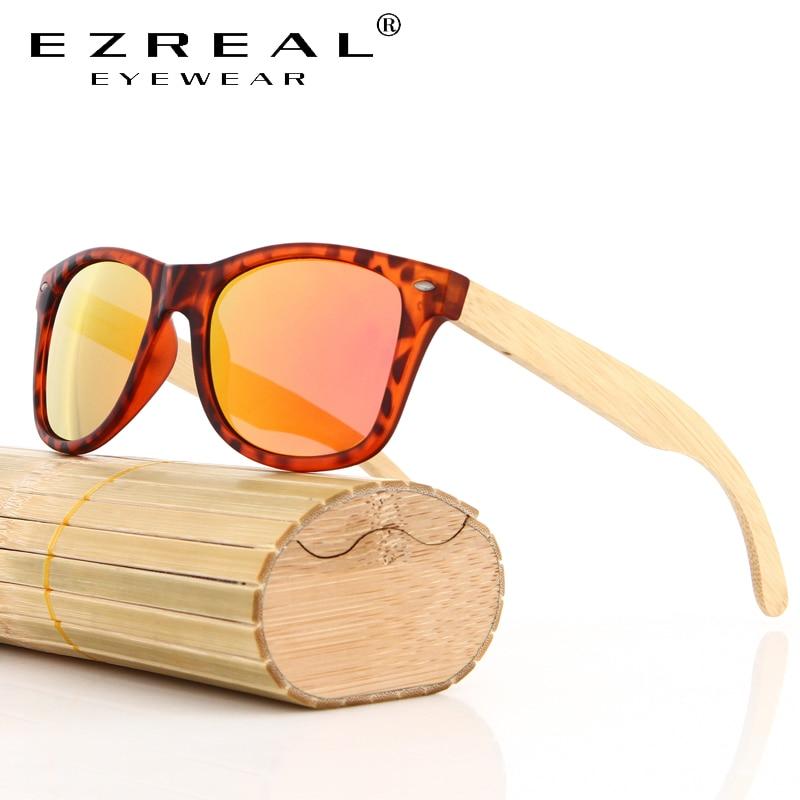 Click here to Buy Now!! EZREAL Naturel Bambou lunettes de Soleil Vintage Hommes  Femmes ... 3e34fec30de
