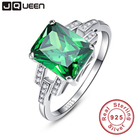 Classic 10 75ct Nano Russian Emerald Ring Emerald Cut Solid 925 Sterling Silver Ring Set Best