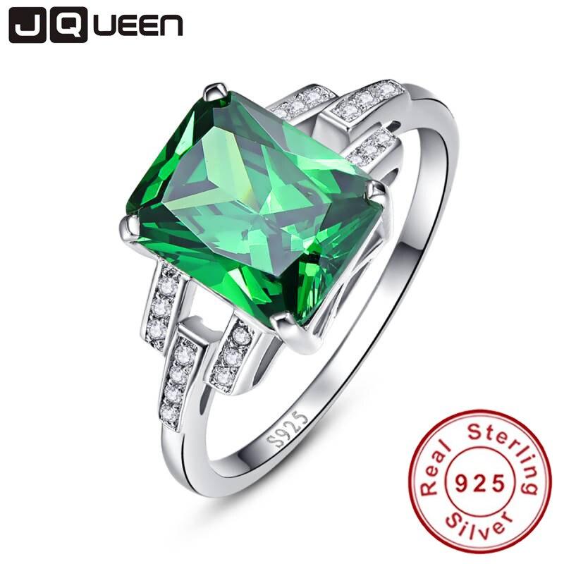 Classique 10.75ct Nano Russie Emerald Bague Émeraude Solide 925 Sterling Silver Ring Set Meilleur Marque Fine Jewelry Pour Les Femmes