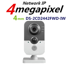 New Arrival Hik CCTV Camera DS-2CD2442FWD-IW 4MP IR Cube Wireless Camera POE IP Camera Indoor replace DS-2CD2432F-IW