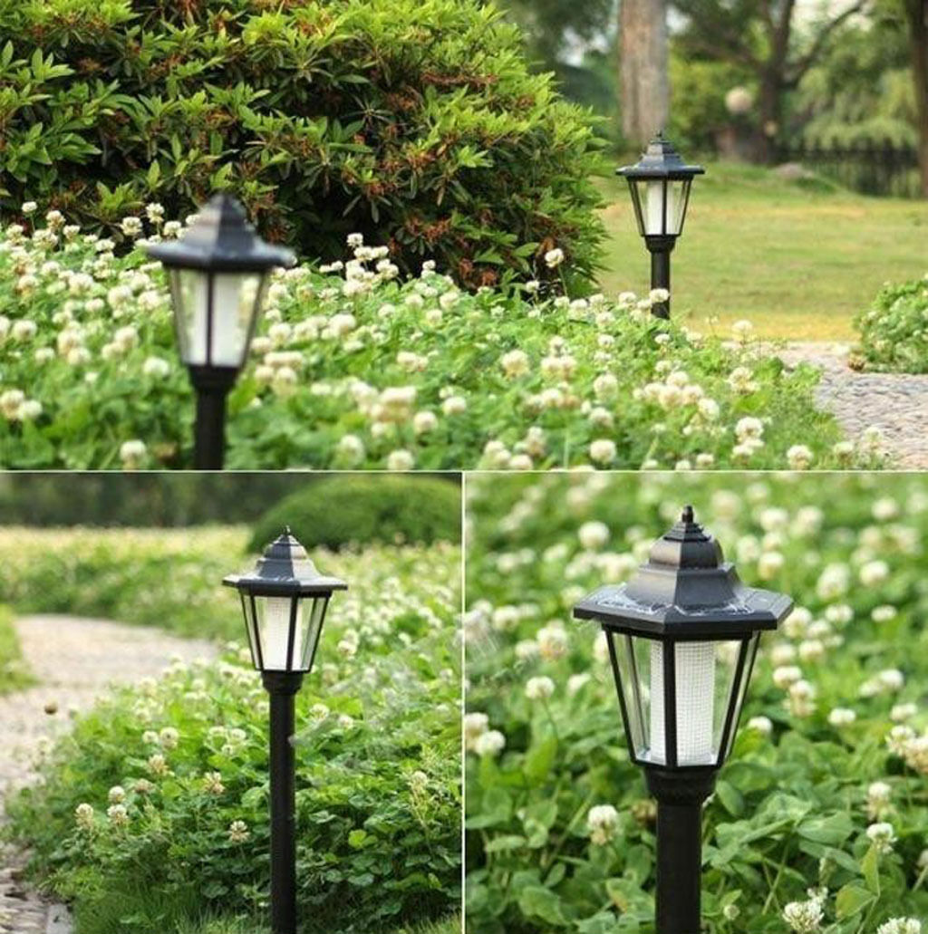 LED Solar Power Lawn Lamp Waterproof IP65 Outdoor Yard Garden Decor Lights UK
