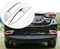 2 pieces Chrome Rear Tail Fog Light Lamp Cover Trim For Mazda 6 M6 Atenza 2014 2015  Car Styling Accessories