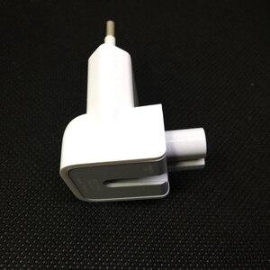 Image 4 - Parede genuína ac destacável cabo de alimentação euro elétrico plugue ue cabeça de pato para apple carregador usb adaptador de energia de transferência de notebook
