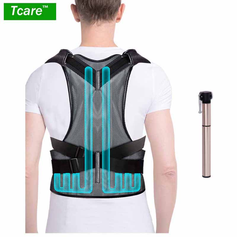 1Pcs Inflatable Back Posture Corrector and Inflatable Waist Support Brace Improve Bad Posture & Pain Relief for Women and Men adjustable back brace posture corrector back support shoulder belt men women aft b003 aofeite