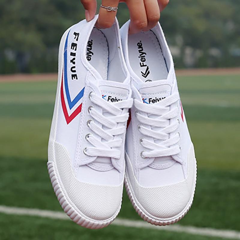 EU34-44 334 Blanc Toile FeiYue Grand Fu Arts Martiaux Tai Chi Kung Fu Entraînement Running Athlétisme Chaussures Pour adultes