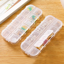Pill Box Transparent Jewelry 12 Stud Earrings Storage Kitchen Container Containers Desktop