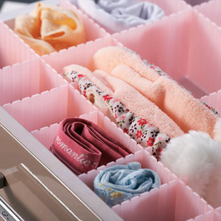 3pc Set New Storage Bins Freely Combination DIY Plastic Drawer Divide  Closet Home Storage Box Socks Bra Tie Home StorageTools