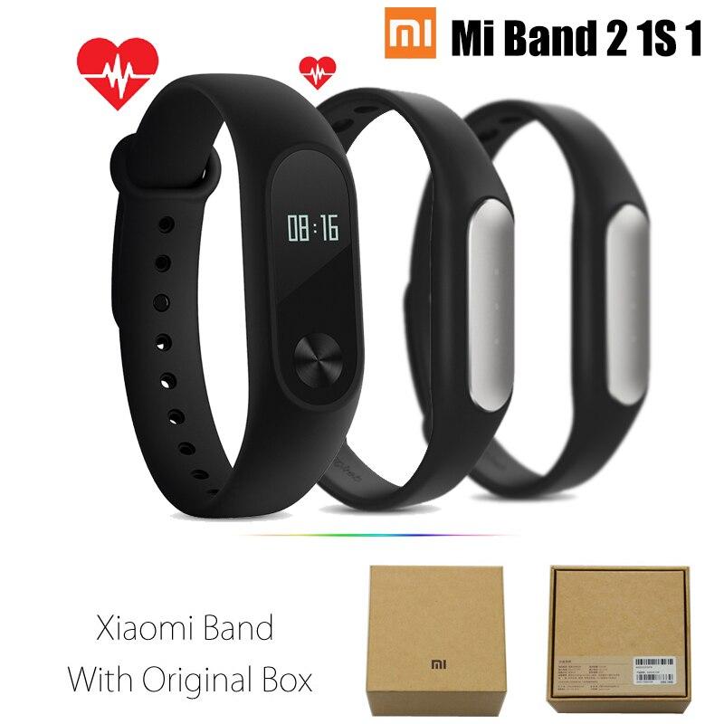ต้นฉบับxiaomi miวง2 1วินาที1สมาร์ทสายรัดข้อมือสร้อยข้อมือxiomi miband2หัวใจออกกำลังกายติดตามmiband band2สำหรับIOS...