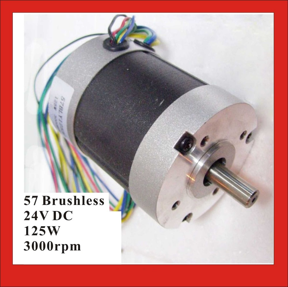 Abundant Inventory! Electric Nema 23 Motor Brushless DC Motor 125W 24V 3000rpm 3 Phase 57 BLDC Motor Nema 23 large stock reserved bldc motor 24v 3000rpm 3 pase brushless dc motor 69w 28oz in 57mm diameter