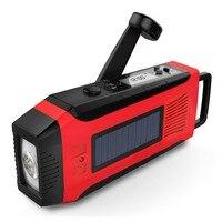 Manivelle Chargeur de Téléphone Solaire Puissance AM/FM/NOAA Radio Avec lampe de Poche Super Lumineux