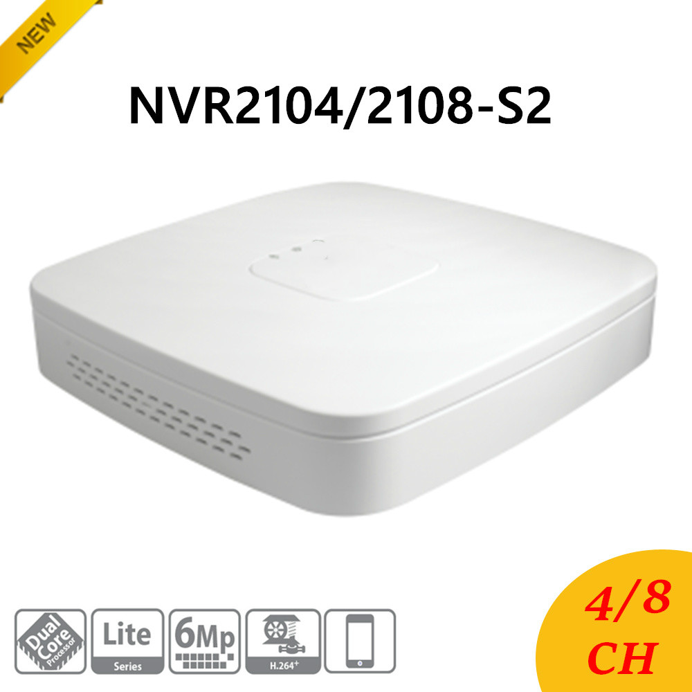 New DH NVR2104-S2/NVR2108-S2 4/8 Channel Smart 1U Lite Network Video Recorder English Version H.264+/H.264 HD1080P Up to 6Mp b1490 2sb1490 to 264