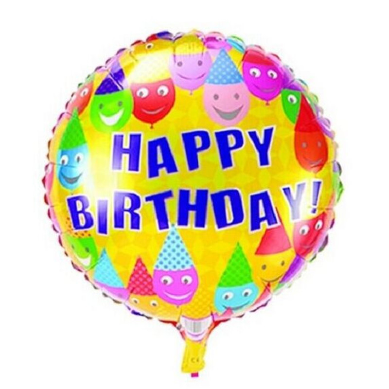 50 pcs/lot colorful candy birthday balloon round bubble happy birthday balloons