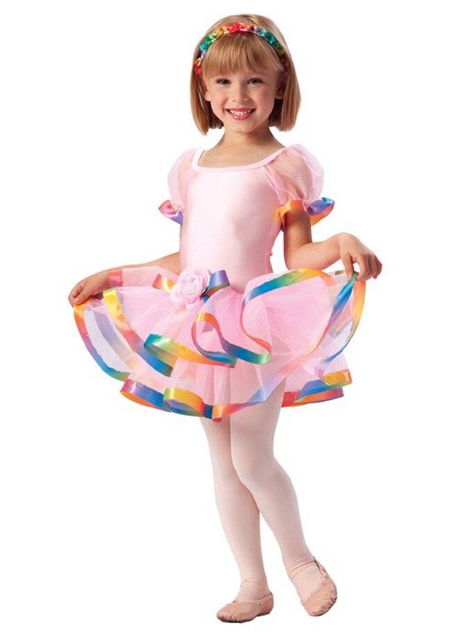 Filles Ballet danse robe enfants scène d'été classique Ballet Tutu costume enfants danse Performance Costumes justaucorps Tutu D-0422